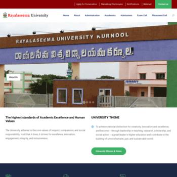 Rayalaseemauniversity.ac.in thumbnail