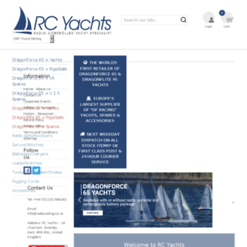 rcyachts org uk at WI  RC Yachts - DragonForce 65