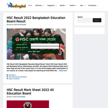 readingbd com at WI  Readingbd com । SSC Result 2019, HSC