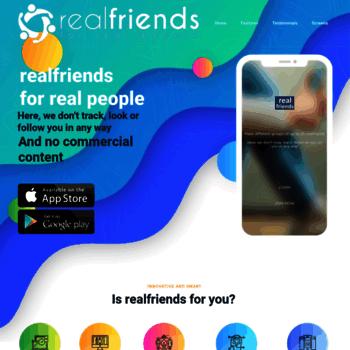 Real friends website