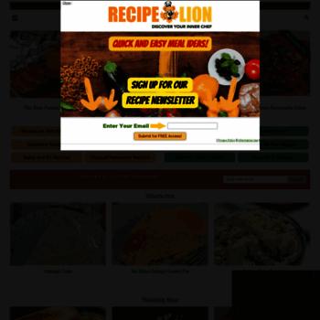 Recipelion.com thumbnail