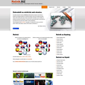 Recnikbiz At Wi Rečnik Biz Besplatni Online Rečnik Za