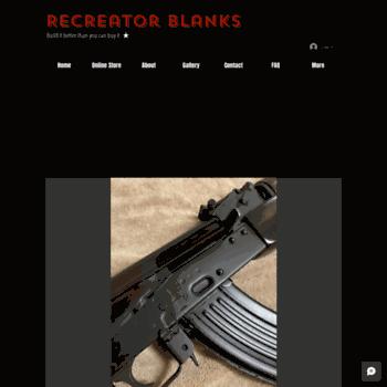recreatorblanks com at WI  ReCreator Blanks AK74 AK47 blank