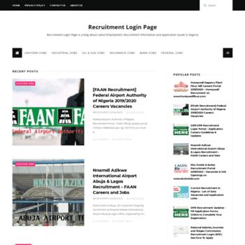 Recruitmentloginpage.com thumbnail