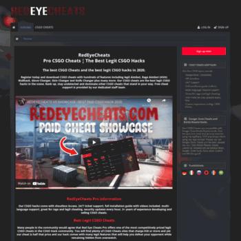 redeyecheats com at WI  RedEyeCheats - Pro CSGO Cheats, the best