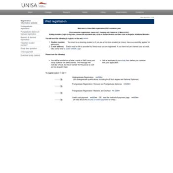 Registration.unisa.ac.za thumbnail