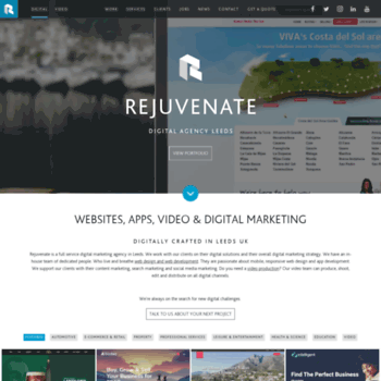 rejuvenateproductions com at WI  Rejuvenate: Leeds Digital