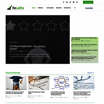 relakhs com at WI  ReLakhs com - Personal Finance Blog