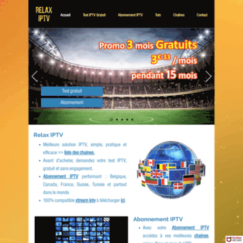 relaxiptv com at WI  ABONNEMENT IPTV | IPTV TEST GRATUIT 48H