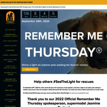 Remembermethursday.org thumbnail
