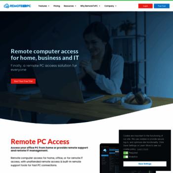 remotetopc com at WI  RemoteToPC - Remote Support Tools for