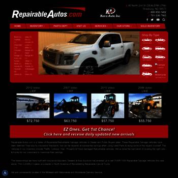 Repairableautoscom At Wi Repairable Cars Trucks Rebuildable