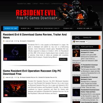 Residentevilpcgamedownload.blogspot.com thumbnail