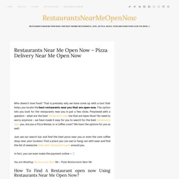 restaurantsnearme-opennow com at WI  Restaurants Near Me