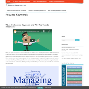 Resumekeywords.biz thumbnail