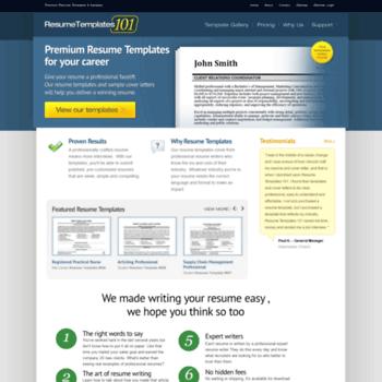 resume templates 101 - Maco.palmex.co