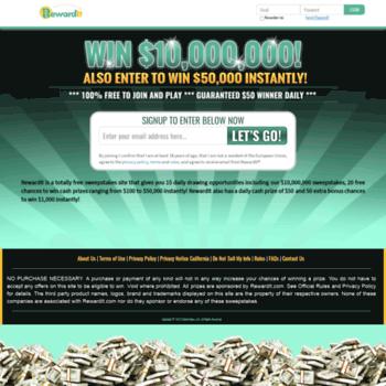 rewardit com at WI  RewardIt Free Online Sweepstakes