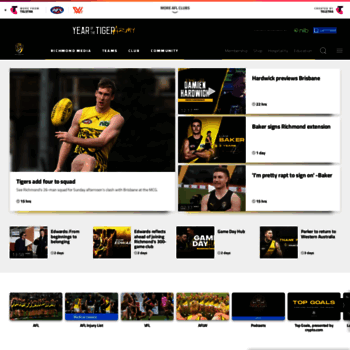 richmondfc com au at WI  Official AFL Website of the Richmond