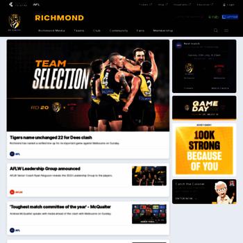 richmondfc com au at WI  Official AFL Website of the Richmond