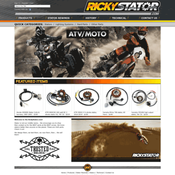 rickystator com at WI  Ricky Stator - Manufacturer of ATV and Dirt