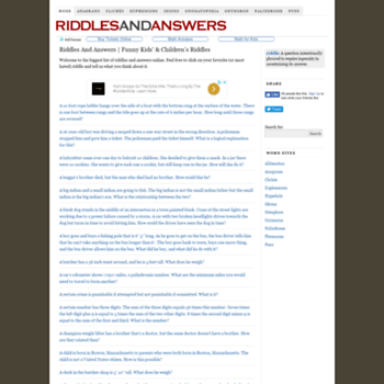 riddlesanswers com at WI  Riddles & Answers — Funny Kids