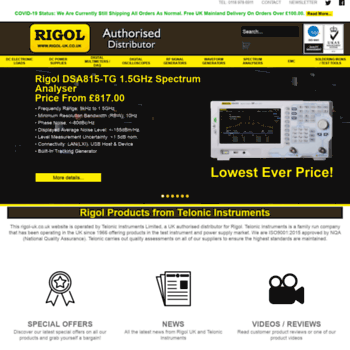rigol-uk co uk at WI  Rigol Electronic Test & Measurement Equipment
