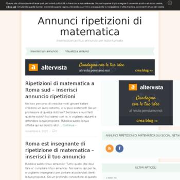 Ripetizionipermatematica.altervista.org thumbnail