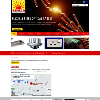 risingsundubai com at WI  Welcome to - Rising Sun Electrical