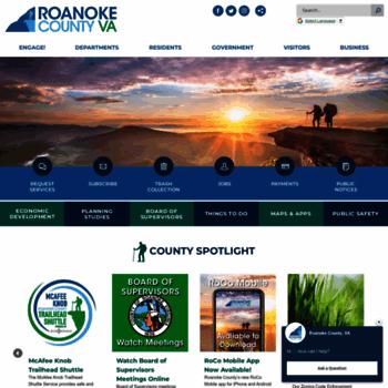 Roanokecountyva.gov thumbnail