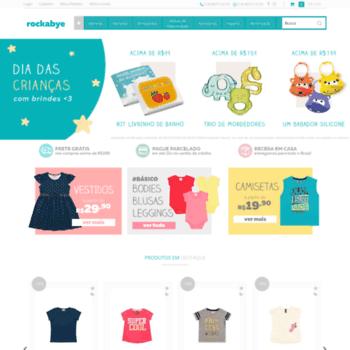 6dd6129a63 Rockabye.com.br thumbnail. Alexa Rank  8171938. Rockabye - Artigos e Roupas  Infantis para Bebês de 0 a 2 anos