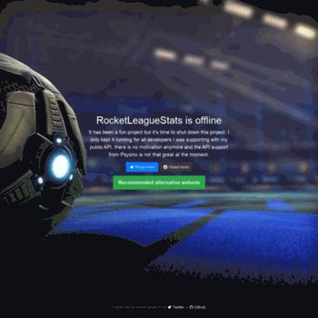 rocketleaguestats com at WI  RocketLeagueStats: Offline