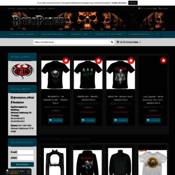 b2cbe32a7fbb rockpince.hu at WI. Rockpince Webáruház : Rock | Goth | Metal ...