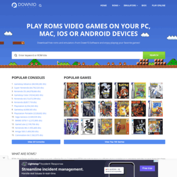 romsmania com at WI  Free ROMs Download for NES, SNES, 3DS, GBC, GBA