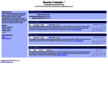 Rosettacalendar.com thumbnail
