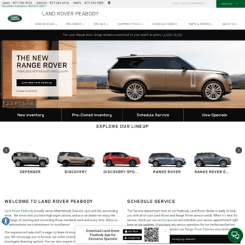 Range Rover Peabody >> Roverpeabody Com At Wi Land Rover Peabody New Pre Owned Cars