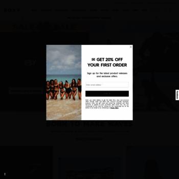 5ce539441f roxy.com at WI. Roxy | Surf, Snowboard & Fitness Brand - Women's ...