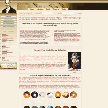 Royalty-free-classical-music.org thumbnail