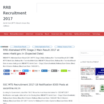 Rrbrecruitment2016.in thumbnail