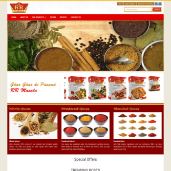 rrmasala com at WI  Best Place to Buy Spices Online | Curry
