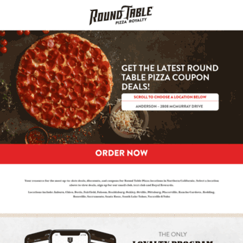 Rtpdeals Com At Wi Round Table Pizza Coupon Deals In Auburn