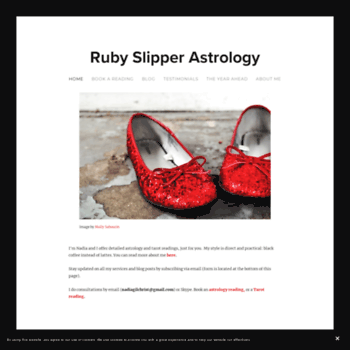 ruby slipper astrology