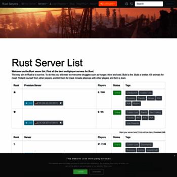 rust-servers net at WI  Rust Server List | Rust Multiplayer Servers