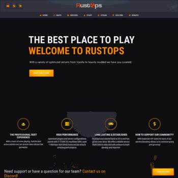 rustops com at WI  RustOps: Game Servers | Gaming Community