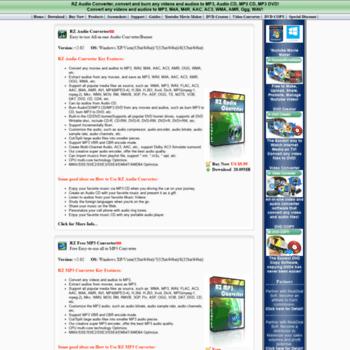 rzaudioconverter com at WI  Free MP3 Converter-Convert any