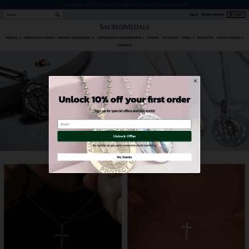 sacredmedals com at WI  Religious Medals   Religious Jewelry