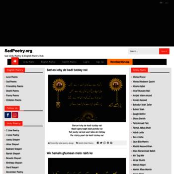 sadpoetry org at WI  Sad Poetry | Urdu Poetry | English