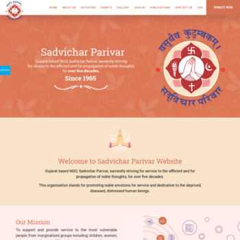 Sadvicharparivar.org thumbnail