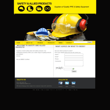 safetyandallied co za at WI  SAFETY & ALLIED PRODUCTS // Suppliers