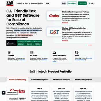 saginfotech com at WI  GST Software & CA Tax Software (Income Tax +