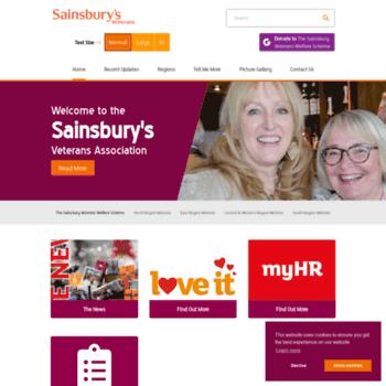 Sainsburysveterans.co.uk thumbnail